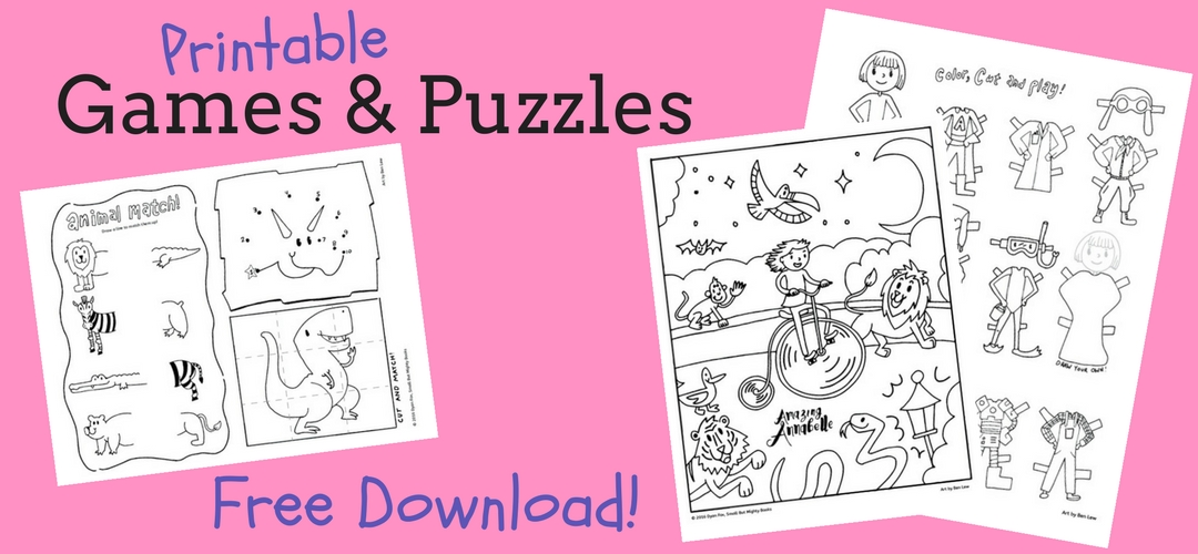 free printable games and puzzles for kids - perfect for long hospital stays or boring waiting rooms
